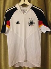 adidas Germany MNT Euro 2004 White Soccer Football Jersey Kit Men's Small