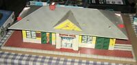 Vintage Marx O-Scale Large Tin Toy Glendale Train Station Depot Lithograph,Metal