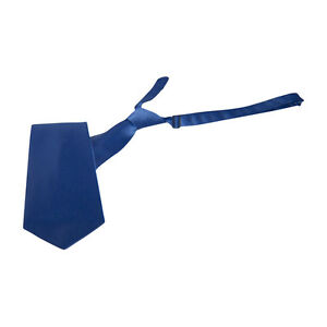 Royal Blue Satin Banded Straight Tie