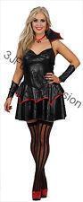 Adult Vampire Temptress Womans Fancy Dress Halloween Costume Gothic Ladies (EP)