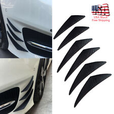 6 Universal Carbon Fiber Car Front Bumper Lip Splitter Fin Spoiler Canards Refit