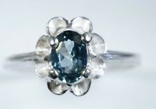 Brilliant Blue Montana Sapphire ring .50ct