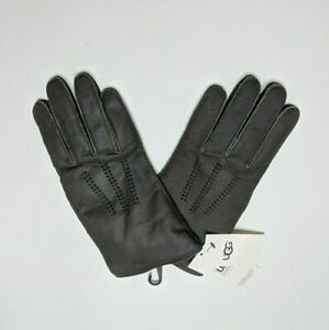 Authentic Ugg Leather Gloves Wrangell Glove Slate Conductive Large NWT