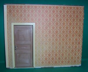 VINTAGE 1970's LUNDBY DOLLS HOUSE GOTHENBURG WALL WITH DOOR