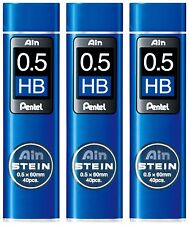 3 x Japan Pentel New Ain Pencil Refill Lead 0.5mm HB 3 tubes
