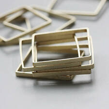 10 Pieces Raw Brass Bead Frame - Square - No Hole 25x25x2mm (3457C-L-167)