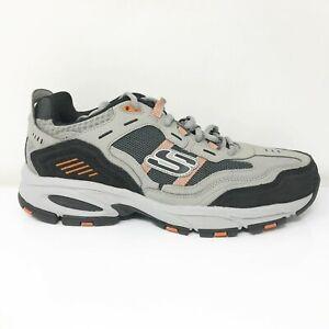 Skechers Mens Vigor 2.0 Nanobet 237067 Gray Orange Running Shoes Lace Up Size 12