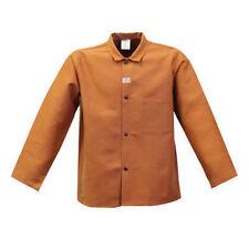 "STANCO W630LS Large 30"" Brown Rust 12 oz Cotton Flame Resistant Welder's Coat"