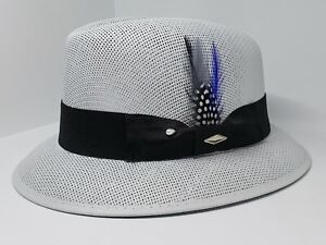 Mens Classic  lowrider center crease hat fedora Derby