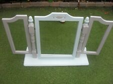 3 PIECE SHABBY CHIC PINE Dressing Table Mirror DUCK EGG  AND DOVE GREY ROMFORD