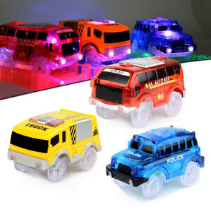 Amazing 2 Cars Glow in the Dark Racetrack Light Up Race Car Toy for Car Track `