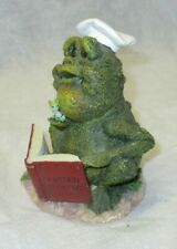 Frog Follies Resin Figurine French Chef with Cookbook