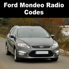 Ford Mondeo Radio Code Stereo Codes Pin Car Unlock Fast Service 6000cd, V Series