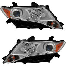 HID Headlights Headlight Assembly Pair Set for 2009 2010 2011 2012 Toyota Venza
