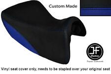 R BLUE & BLACK VINYL CUSTOM FOR TRIUMPH TROPHY SE 1215 12-14 FRONT SEAT COVER