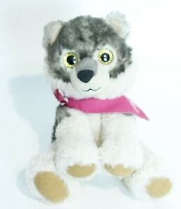 """Floppy Friends 7"""" Wolf Stuffed Plush Animal by First and Main"""