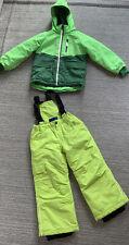 H&M Rodeo Kombi Jacke Skijacke Ski Latzhose 116 Schneehose Schneejacke Gelb Grün