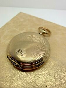 Antique Junghans Gold-Plated Pocket Watch Swiss