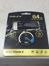 PNY 64GB Turbo USB 3.0 flash drive P-FD64GTBAT4-GE 10X