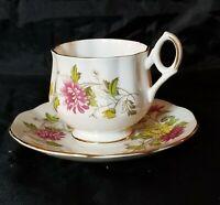 Royal Dover China Tea Cup & Saucer Bone China  England November Chrysanthemum