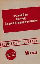 RADIO TEST INSTRUMENTS (1947) – Vintage Antique Servicing Info – CD