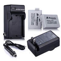2x LP-E5 LPE5 Battery + Charger For Canon Rebel T1i XS XSi 450D 1000D Kiss X2 X3