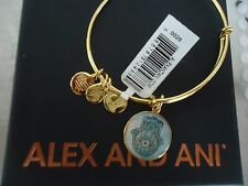 Alex and Ani HAND OF FATIMA ART INFUSION Bangle Shiny Gold New W/Tag Card & Box