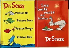 Dr Seuss FRENCH 2x HC Green Eggs Ham One Fish Two Oeufs Vert Jambon Poisson Un