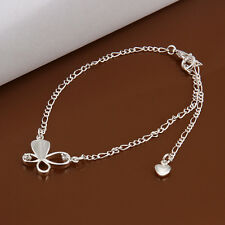 925Sterling Silver Zircon Solid Hollow Butterfly Women Foot Chain Anklet Ay021