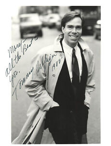 "VINTAGE 1988 TOMMY HILFIGER SIGNED PHOTO! 8 x 10""! BLACK & WHITE! STREET POSE!"