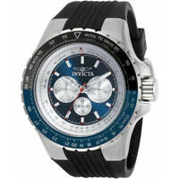 Invicta Men's Watch Aviator Chronograph Blue and Silver Dial Strap 32916