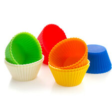 5pcs Soft Silicone Cake Muffin Chocolate Cupcake Bakeware Baking Cup Mold Moulds