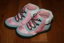 NWT Gymboree Polar Pink Size 1 Pink Ankle Lace Up Snow Boots Booties