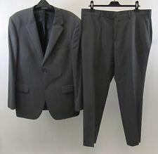 Mens Jeff Banks Grey Striped Super 100's Suit Size 44 Chest / 38 Waist / 30 Leg