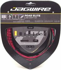 Jagwire Road Elite Link Ultra-Slick Shift Cable Kit Red+Shimano End Cap x2