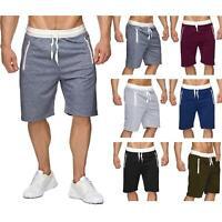 New Mens Fleece Shorts Elasticated Waist Jersey Summer Jogging Running Shorts