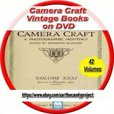 42 Camera Craft Volumes Magazines Vintage Books Practical Photography on Dvd
