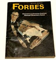 Vintage Forbes Magazine May 15 1972 Dimensions of American Business Annual