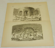 1879 Antique Print/EARLY GLASS MANUFACTURING