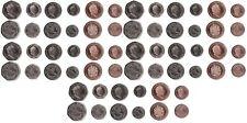 Gibraltar 5 pcs x set 5 coins 1 2 5 10 20 Pence 2017 - 2018 comm. UNC Lemberg Zp