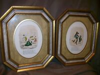 2 VINTAGE OLDE ENGLISH POEM WALL PLAQUES FEBRUARY & AUGUST POETRY