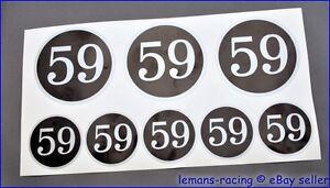 Silver CAFE RACER CLUB 59 Stickers Decals Enfield CB750 Ducati Norton Commando