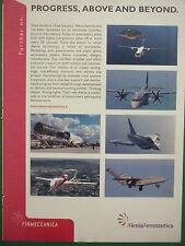11/2007 PUB ALENIA AERONAUTICA EUROFIGHTER TYPHOON DRONE SPARTAN ORIGINAL AD