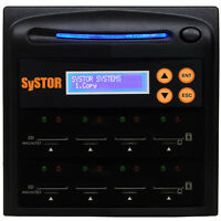 SySTOR 1-7 SD Card Duplicator Mini Micro Secure Digital Flash Memory Sanitizer