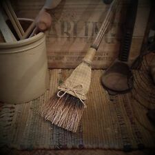 Olde Primitive Broom~Wood~Bristles~Country~Prim Accent~