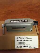0125926-010 Veeder-Root Counter, 6 digit, Mechanical, Ratchet Style, with Reset