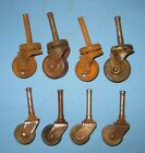 VTG Lot 8 2 sets Casters Furniture Industrial Salvaged Wheels Steampunk