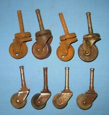 VTG Lot 8 2 sets Casters Furniture Industrial Salvaged Wheels Steampunk!