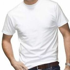 Two Large White Tshirts 215M 210gsm Cotton 'Russell' (US) New