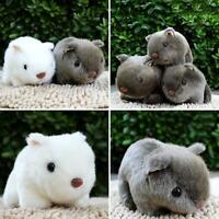 White Grey Cheeky Hamster Repeats What You Say Pet Talking Plush Toy Gift 18cm